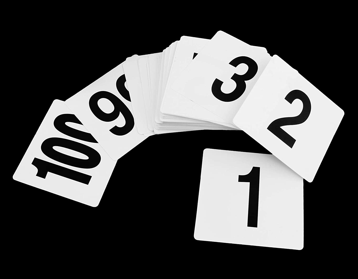 New Star Foodservice 23053 1-100 Single Sided Table Numbers, 4