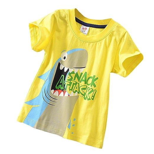 ebbd34703bf9 Baby Kleidung, erthome Baby Jungen Mädchen Top T-shirt Kleidung Kurzarm  Karikatur Oberseiten-T-Shirt Blous  Amazon.de  Bekleidung