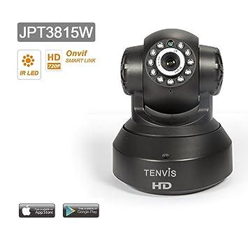 Tenvis JPT3815W Cámara IP de seguridad en HD 720p 1280x720 H264 - Alarma detección de movimiento