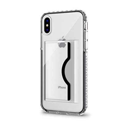 competitive price b6e5e 00391 Artifit iPhone X/Xs Case, Slim Wallet Case Card Holder & TPU Shockproof  Soft Bumper Military Grade Drop Protection Card Slot Grip Protective Cover  ...