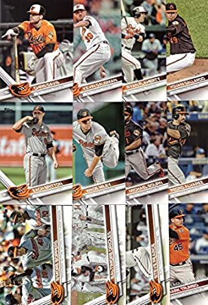 Amazoncom 2017 Topps Series 1 Baltimore Orioles Baseball Card Team