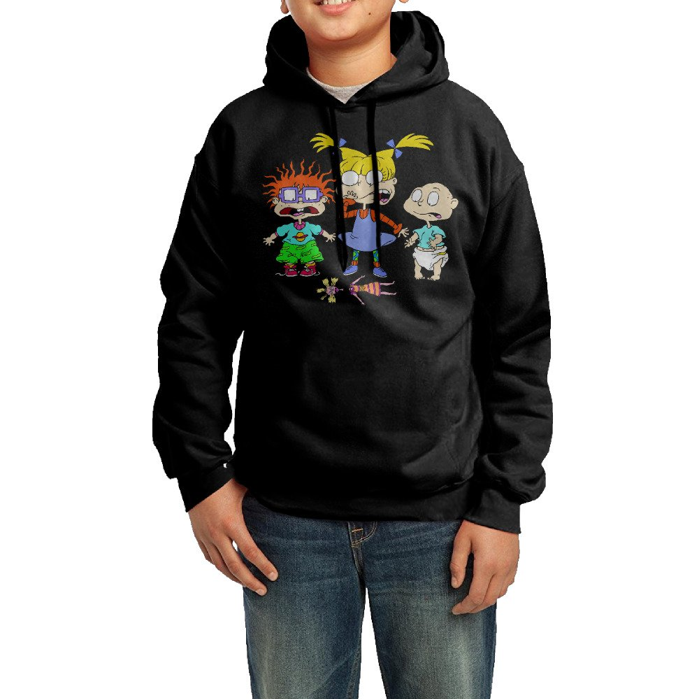 Kid's Funny Rugrats 100% Cotton Long Sleeve Hoodies Sweater