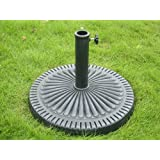 Resin coated Heavy Iron Base Umbrella Stand - accepts poles from 1.5 to 2 inches diameter - Patio and Garden Furniture
