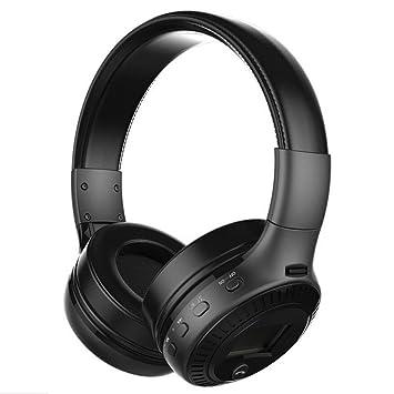 OHQ Auriculares Zealot B19 Auriculares InaláMbricos Bluetooth EstéReo 4.1 TF Mic Radio FM Auriculares LCD Auricular Bluetooth Cargador Linea Datos TeléFono ...