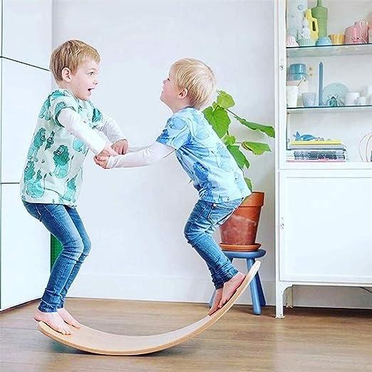 SIMPIE Balance Board Wobble Kid Waldorf Yoga de Madera de ...