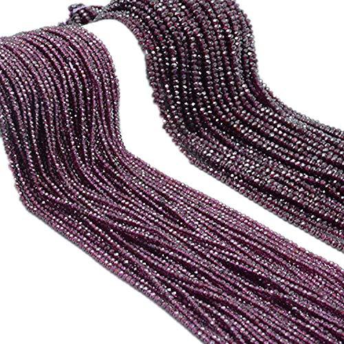 Dayday-Summer Natural Garnet DIY Beads Rhodolite Rondelle Beads,Rhodolite Garnet 4x2mm