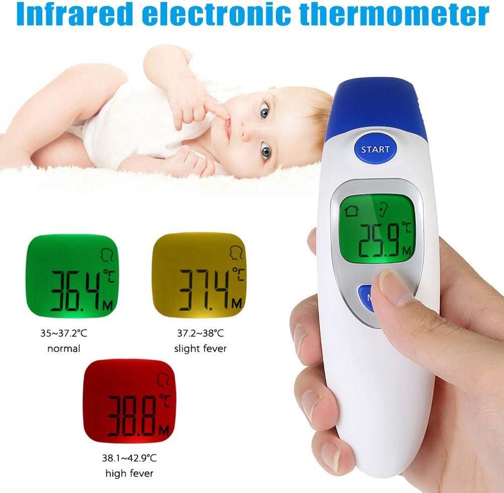 Thermometers,TTAA 1pcs Infant Infared Electronic Thermometer Household Baby Forehead Ear Digital