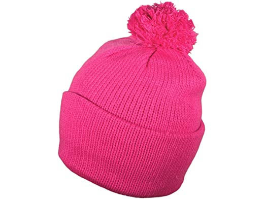 Wholesale Winter Ski Throwback Beanies Knit Hats with Pom Pom (Hot Pink -  Kids Size) - 3565  Amazon.in  Clothing   Accessories 9f15a7dc5869