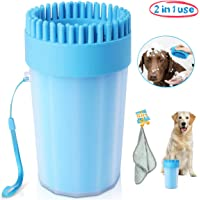 Upgrade Dog Paw Cleaner Large Dog Cleaner Portable with Towel Dog Cleaning Brush Paw…