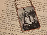 Sitting Bull necklace mixed media jewelry Native American jewelry