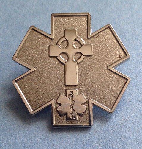 - EMS/EMT CELTIC CROSS PIN FIRST RESPONDER PIN