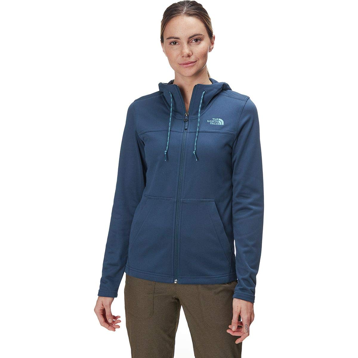 blueee Wing Teal blueee Wing Teal X-Small The North Face Women's TECH MEZLUNA Hoodie
