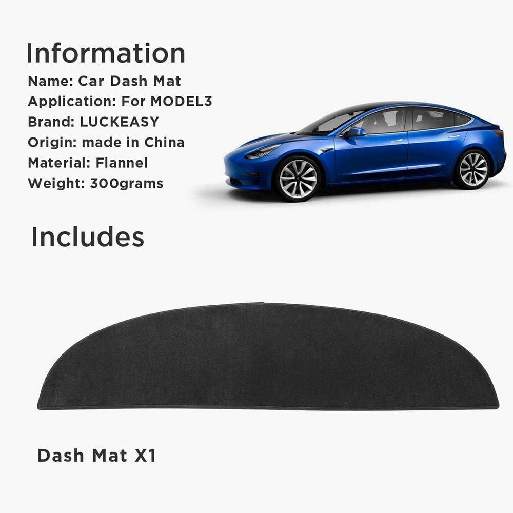 REFURBISHHOUSE Tapis de Tableau de Bord pour Tesla Model 3 2017 2018 2019 Tesla3 Couverture de Tapis /éCran Solaire Isolation Tableau de Noir
