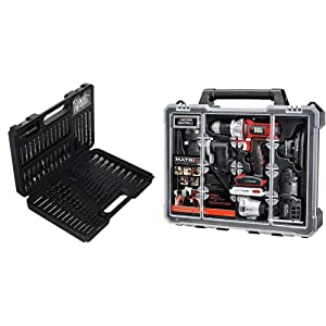BLACK+DECKER BDA91109 Combination Accessory Set, 109-Piece with BLACK+DECKER BDCDMT1206KITC Matrix 6 Tool Combo Kit with Case