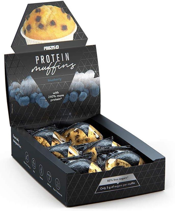 Prozis 6 x Protein Muffins – Arándano 60 g – Deliciosamente ...