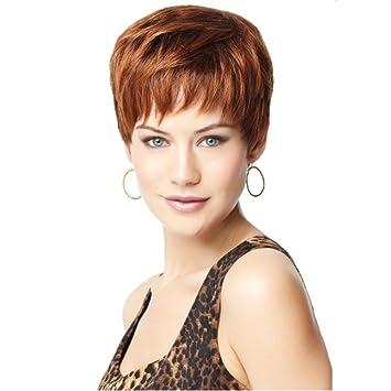 wig TT La Sra Europea y la peluca pelo rizado peluca corta de la moda estadounidense