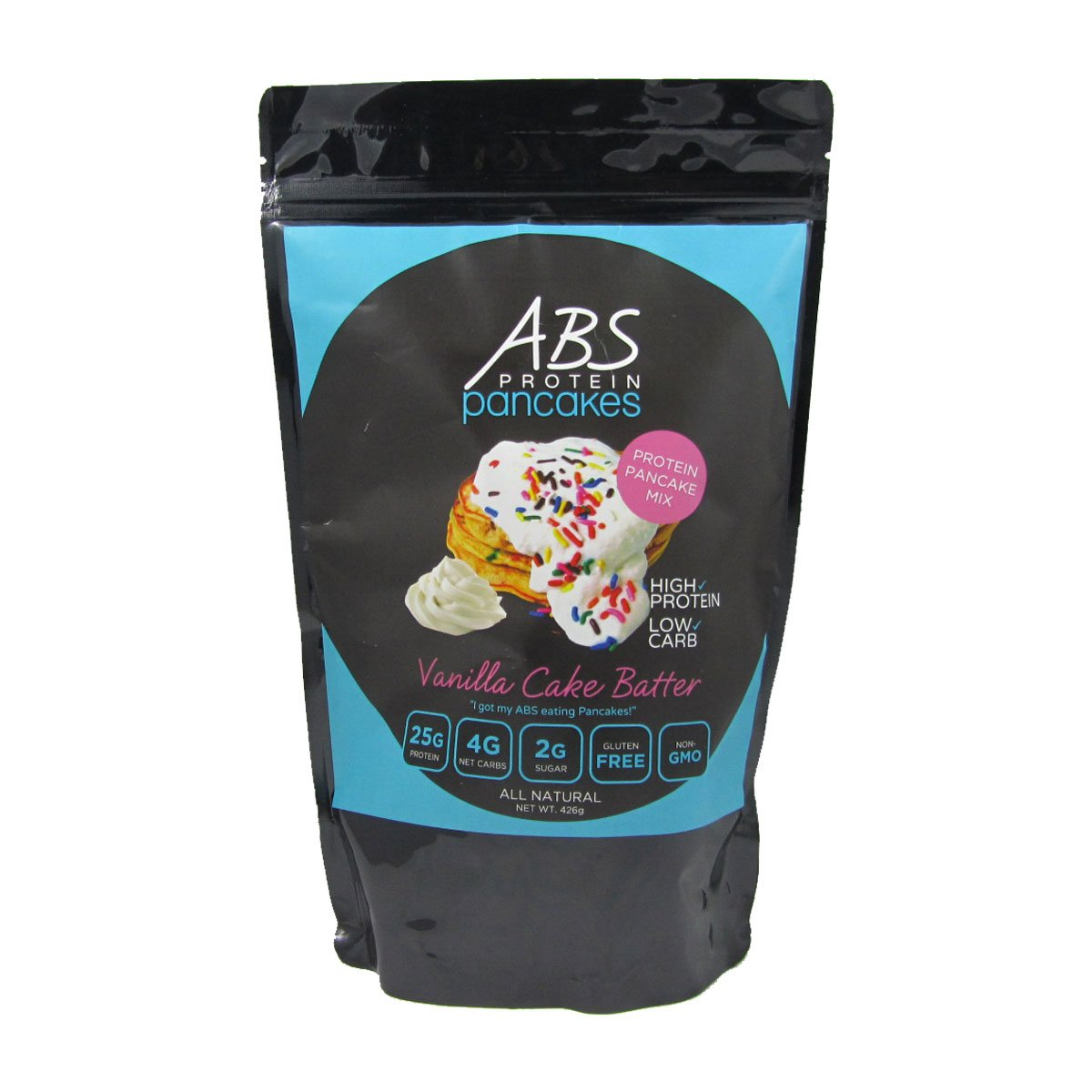Protein Pancake Mix - Vanilla Cake Batter - ABS Protein Pancakes and Waffles - Gluten Free, Keto Friendly Protein Powder Mix - High Protein, Low Carb, Low Sugar - 1 Pound Package ($2.50/Ounce) by ABS Protein Pancakes