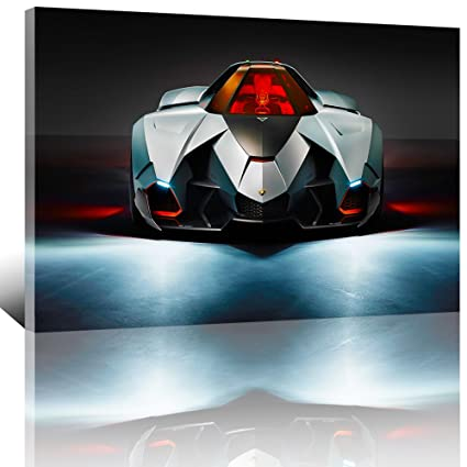 Amazon Com Lamborghini Egoista Concept Sport Car Printed Painting