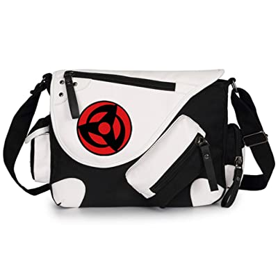 Gumstyle Naruto Classic Shoulder School Bag Anime Cosplay Messenger Bag Black