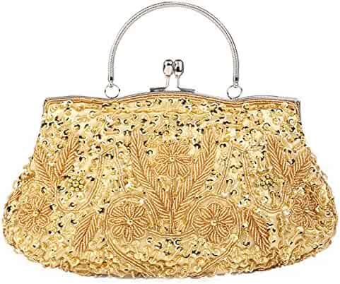 99f2788c3141 Shopping Golds or Greys - Flada - Clutches & Evening Bags - Handbags ...