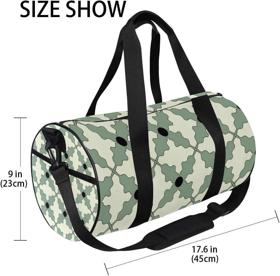 MALPLENA Special Shape Flowers Drum gym duffel bag women Travel Bag