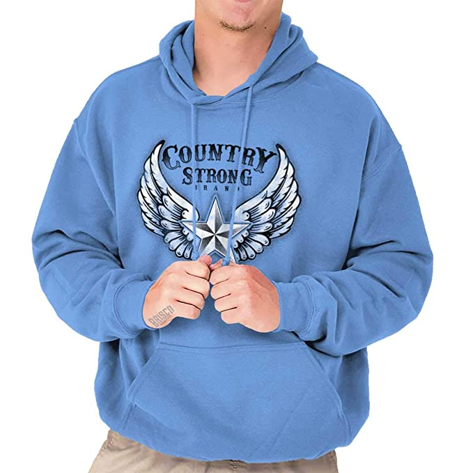 sports shoes 8819c a11bd Country Strong Basic Star Wings Cowboy Hoodie