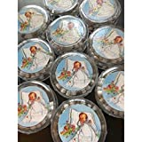 YRP 12 pcs New Style White Scented Wooden Rosaries Baby Baptism Party Favors Recuerdos Rosario