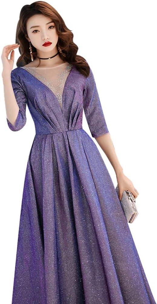 Vestido de Noche de Las Mujeres Noble y Elegante Falda Larga ...