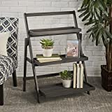 Christopher Knight Home 302582 Cletus Indoor Chic Acacia Wood Plant Stand, Dark Grey