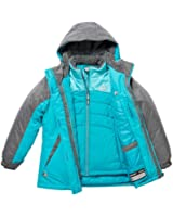 Gerry Girl's 3-in-1 Systems All Weather Jacket with Beanie