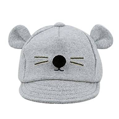 Amazon.com: Pocciol Soft Cap for Baby, Baby Infant Baseball Cap Hat Kids Baby Bunny Rabbit Visor Cotton Peaked Hat (Black, M): Clothing