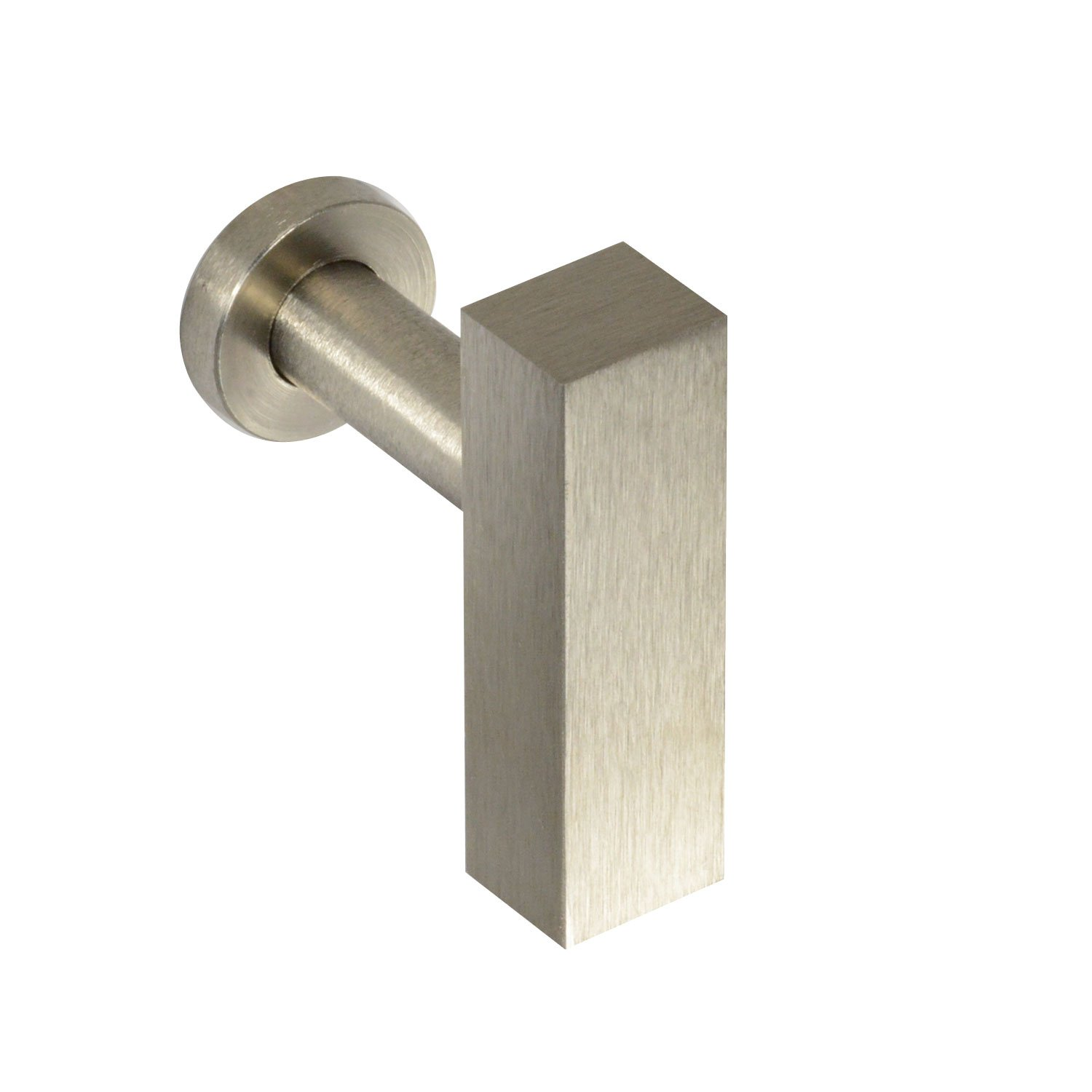 #1600 CKP Brand Linear Aluminum T-Knob, Brushed Nickel - 10 Pack