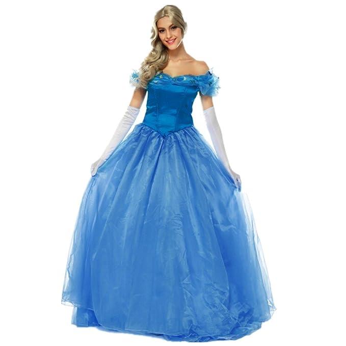 Disfraz de Princesa Para Mujer Cosplay Vestido Halloween Carnaval Talla XL   Amazon.es  Ropa y accesorios 84b2f48cc8c