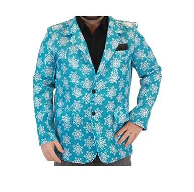 sequin snowflakes blue ugly christmas suit jacket smallmedium - Christmas Jacket