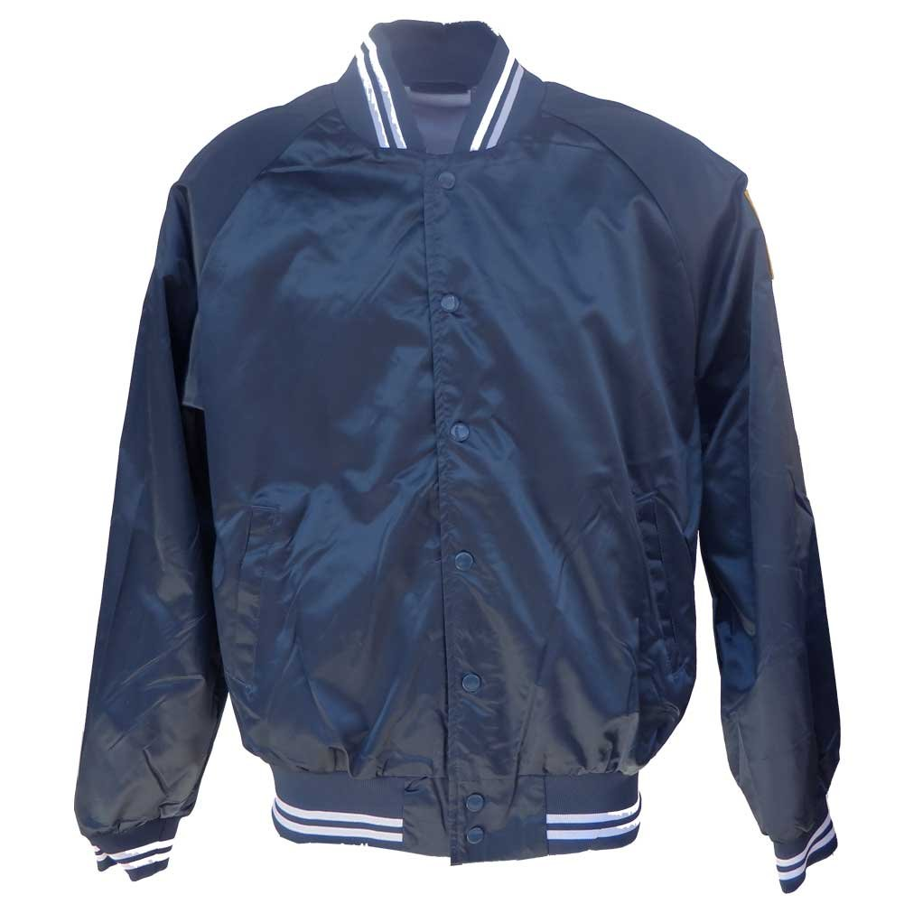 Honor Country Seabees Satin Jacket with We Build We Fight Can Do