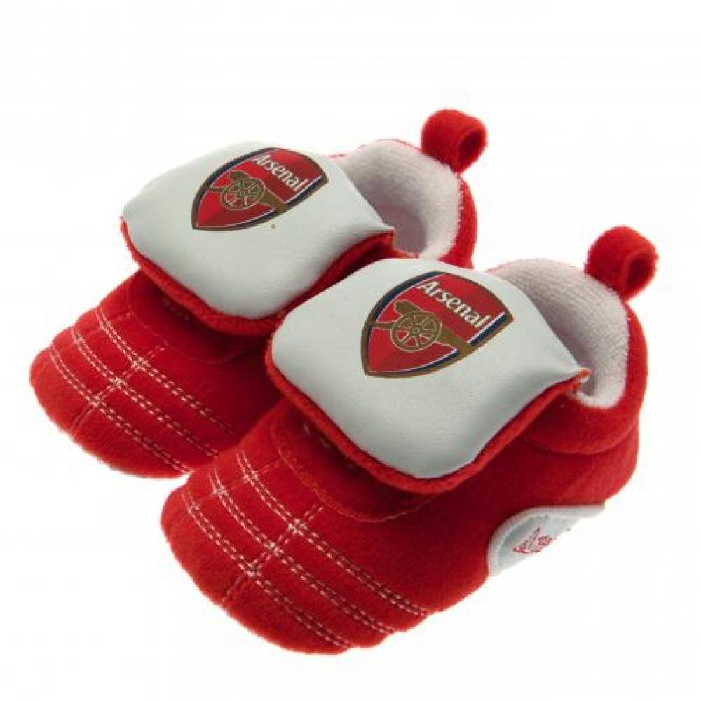 Baby Footwear - Official Arsenal FC Baby Crib Boots (0 - 3 Months) - Novelty Baby Football Gift Ideas