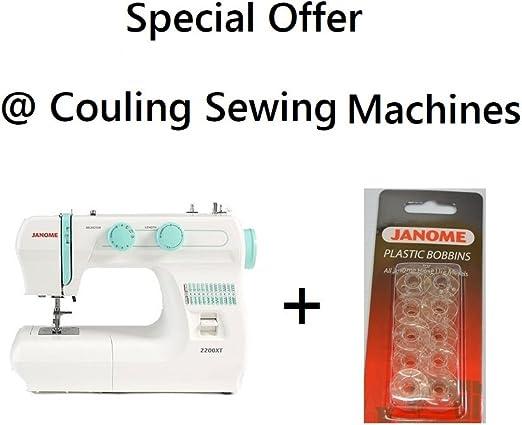 Janome 2200 x T máquina de coser + 10 bobinas – gran fuerte ...