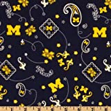 Best Wolverine Bandanas - Collegiate Cotton Broadcloth University of Michigan Bandana Blue Review