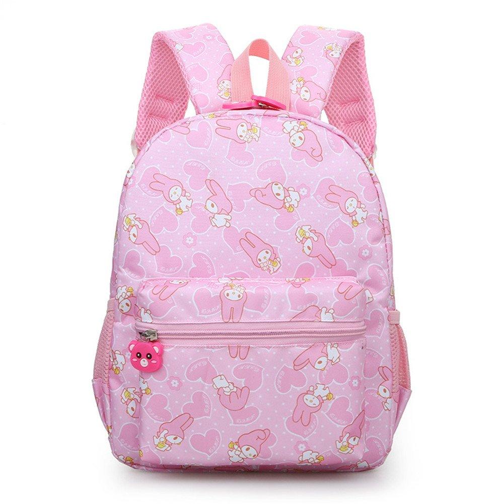 TeMan Kids Backpack Kindergarten Cartoon Schoolbag Rabbit Pink