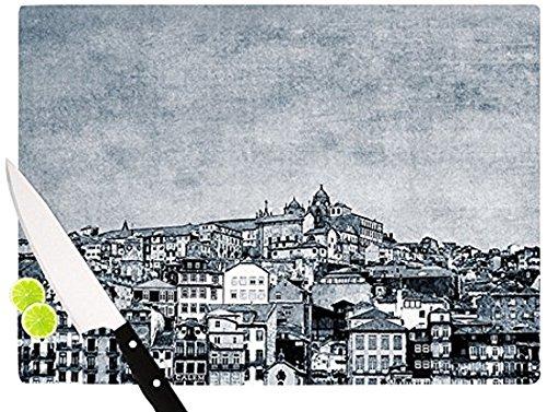 Kess InHouse Ingrid Beddoes'A Riberia' Cutting Board, 11.5 by 8.25-Inch, Gray
