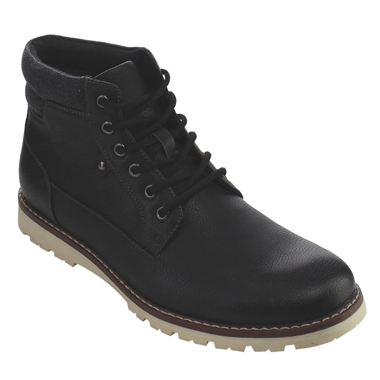 Arider AC80 Men's High-Top 6-eyelet Lace Up Flat Heel Work Sneaker Boots