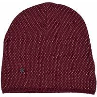 b1973b61 Gucci Men's Lightweight Burgundy Beige Wool Cashmere Beanie Ski Winter Hat