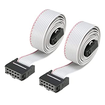 uxcell/® 2.54mm Pitch 20 Pins 20 Wires F//F IDC Connector Flat Ribbon Cable 66cm Long