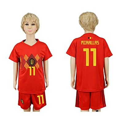 2018 World Cup Belgium National Team #11 Soccer Jersey Kids/Youths Size