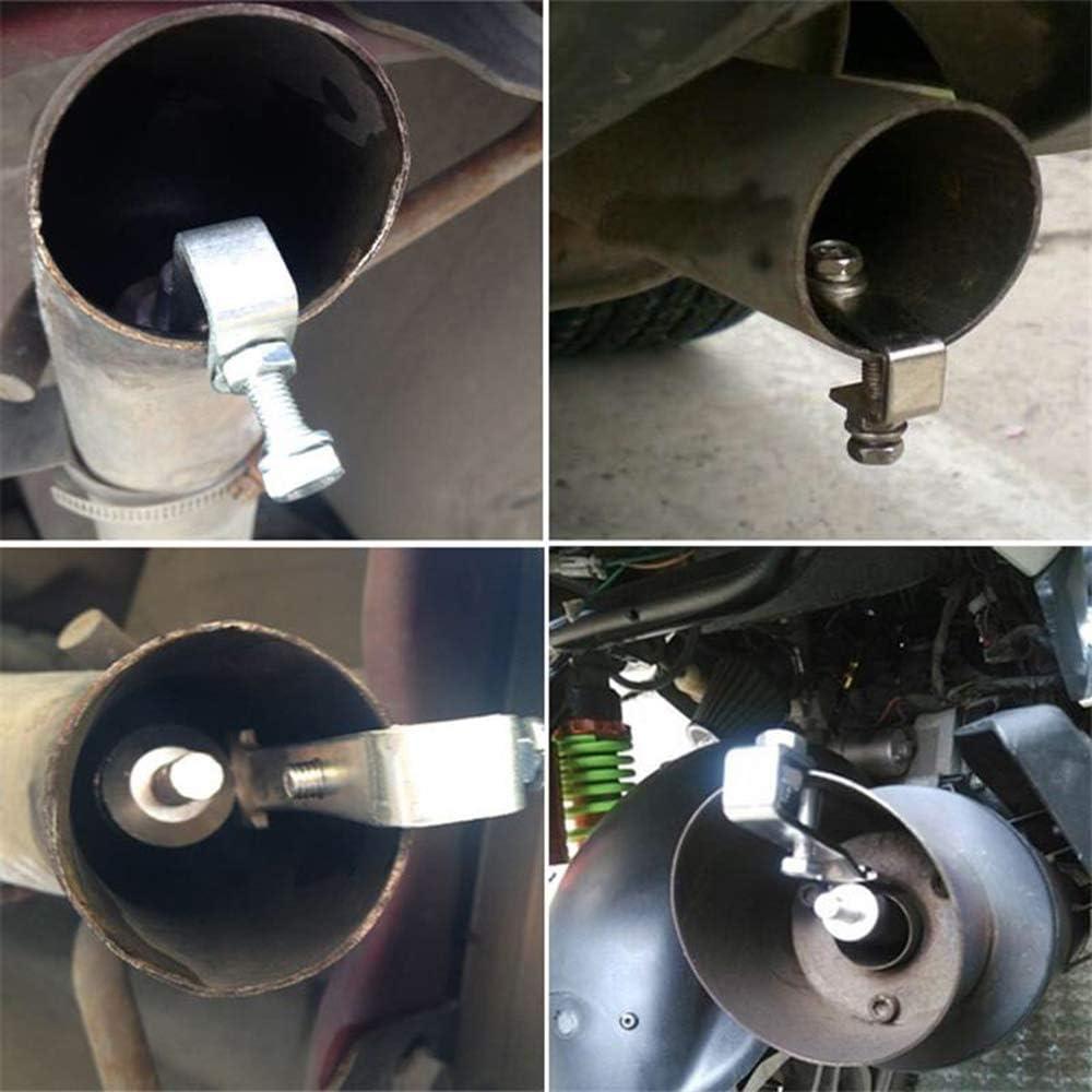Fefaxi Aluminium Turbo Sound Pfeife Schalld/ämpfer Pfeife Auto Motorrad Auspuff Pfeife Abblaseventil BOV Simulator-S