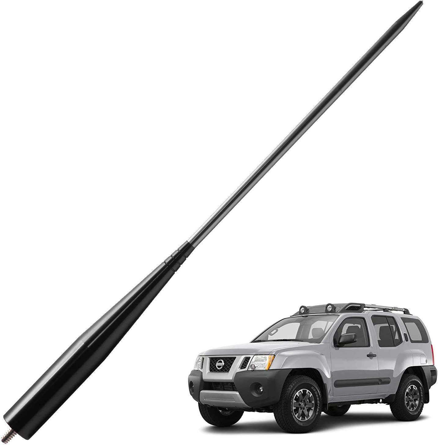 4 inches-Black JAPower Replacement Antenna Compatible with Chrysler Town /& Country 2008-2016