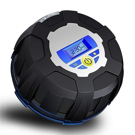 lpy-digital coche neumático inflador, portátil compresor de aire bomba del neumático, Medidor