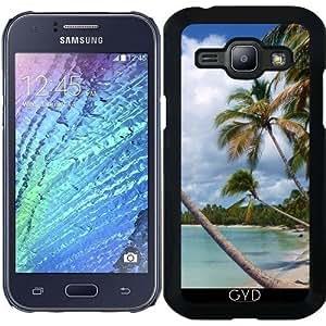 Funda para Samsung Galaxy J1 - Palmeras De Coco En La Playa Salvaje by BluedarkArt