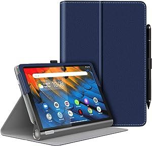 MoKo Case Fit Lenovo Yoga Smart Tab 10.1 (YT-X705F), Ultra Compact Protection Premium Slim Folding Stand Cover Case for Lenovo Yoga Smart Tab 10.1 (YT-X705F) Tablet - Indigo