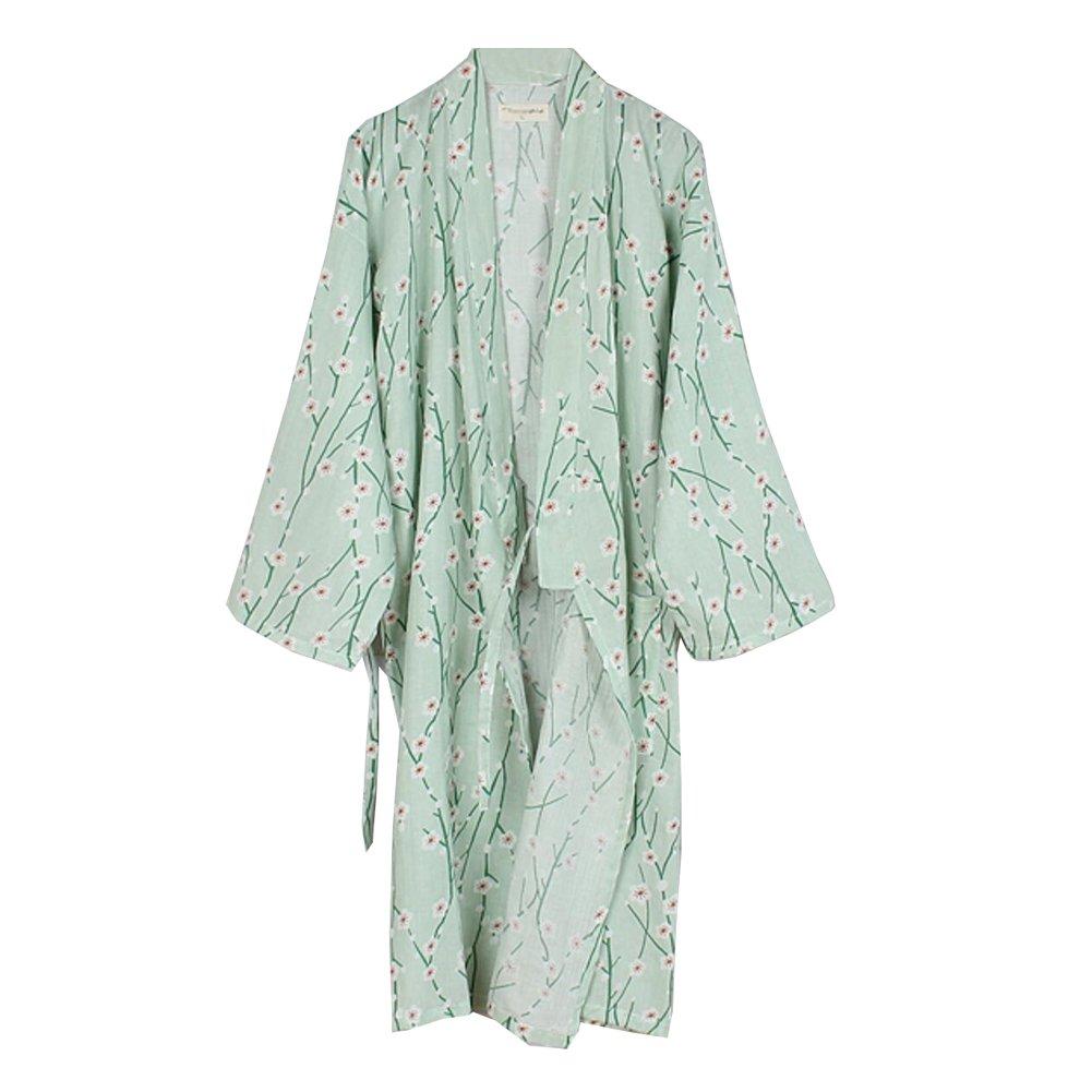 Fancy Pumpkin Bata de algodón Japonesa para Mujer Bata de algodón Kimono Pijama de Flores A: Amazon.es: Ropa y accesorios